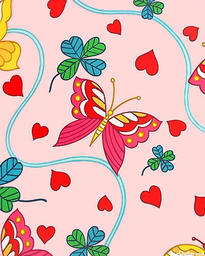 HEARTS & BUTTERFLIES - 62  (COTTON)