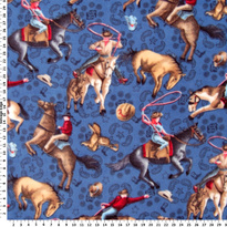 Cowboys on Blue FLEECE B59