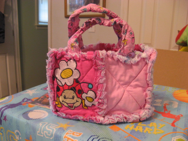 SOLD - EXAMPLE of X-Small 2 Square Bag - $15 + S/H ($7)